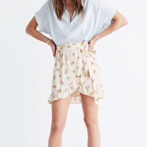 Madewell Silk Floral Wrap Skirt Size 0